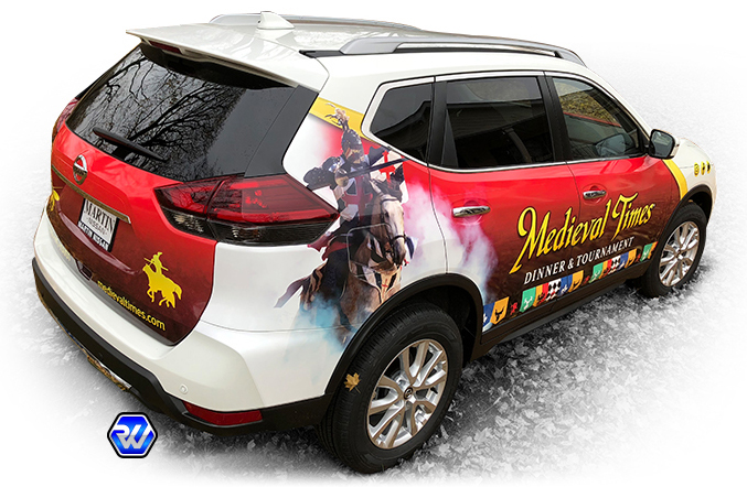 rage wraps ragewraps 3m avery vinyl nissan rougue car wrap medieval times