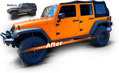 Color Change Jeep 3m avery
